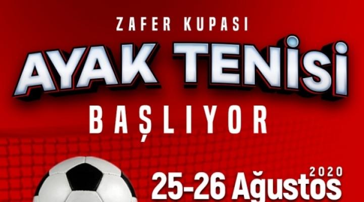 """''AYAK TENİSİ ZAFER KUPASI""""  BAŞLADI"""